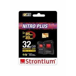 Thẻ nhớ Strontium MicroSD Nitro Plus UHS-1 U3 có Adaptor & USB Card Reader (Support 4k) 32Gb