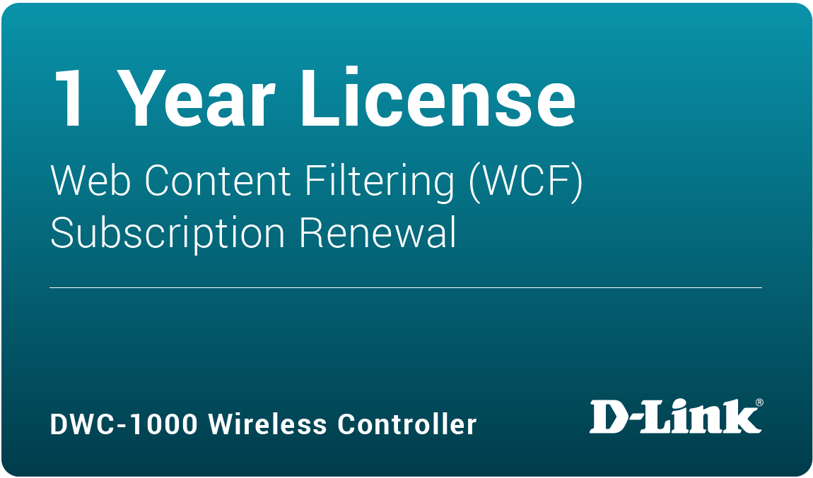 DWC-1000 Dynamic Web Content Filtering License 12-months